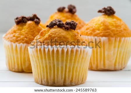 pumpkin cup cake - stock photo