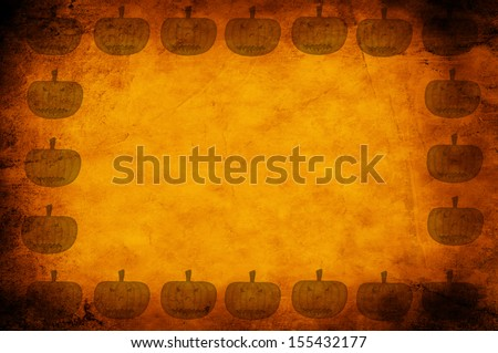 Pumpkin icon on old paper background  - stock photo