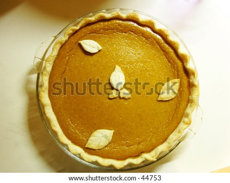Pumpkin Pie - stock photo