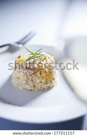 pumpkin risotto - stock photo