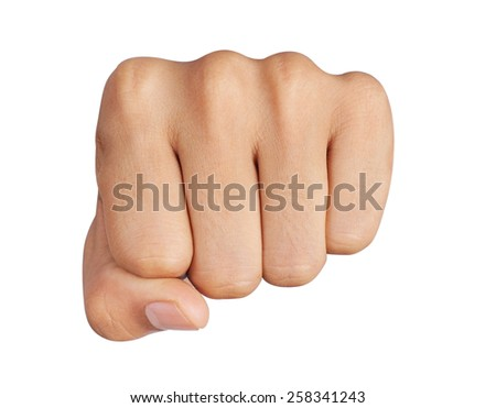 punch fist isolated is on a white background - stock photo
