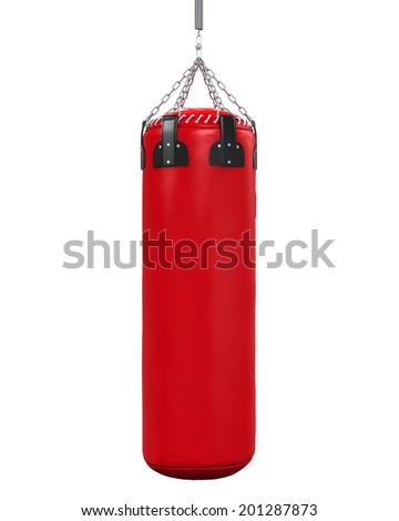 Punching Bag Isolated - stock photo