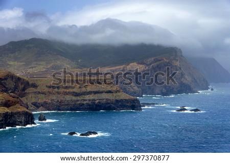 Punta de Sao Lourenco, Madeira Island, Portugal - stock photo