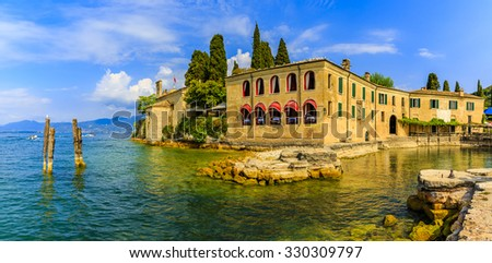 Punta San Vigilio, Lake Garda, Italy - stock photo