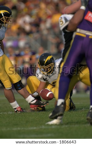 Punting the ball. - stock photo