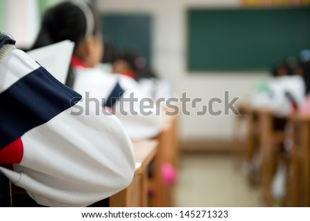 Pupils are very attentive at classes.  - stock photo