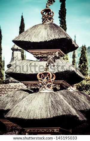 Pura Besakih. - largest hindu temple of Bali, Indonesia - stock photo