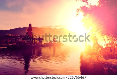 Pura Ulun Danu temple, Bali, Indonesia - stock photo