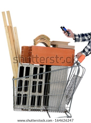 purchase materials for masonry work - stock photo