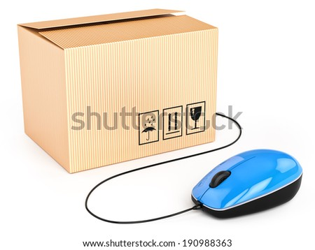 Purchase of goods in a single click. Concept - stock photo