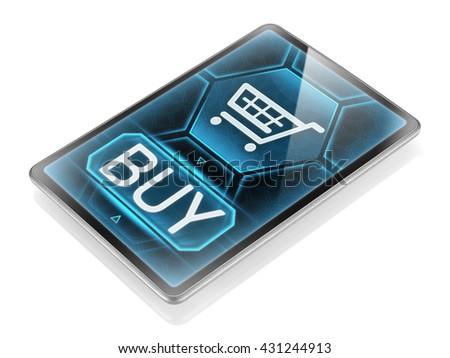 Purchasing on internet (image is not 3D rendering) - stock photo