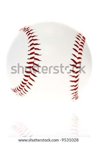 Pure baseball ball - stock photo