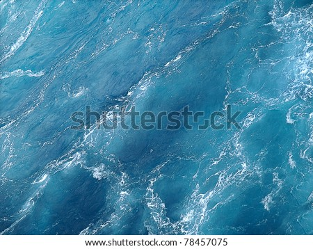Pure blue water background. - stock photo