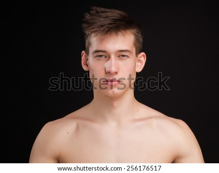 pure man portrait - stock photo