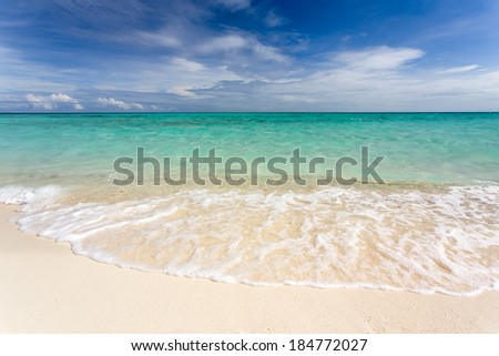 Pure tropical white beach, Camiguin island, Philippines - stock photo