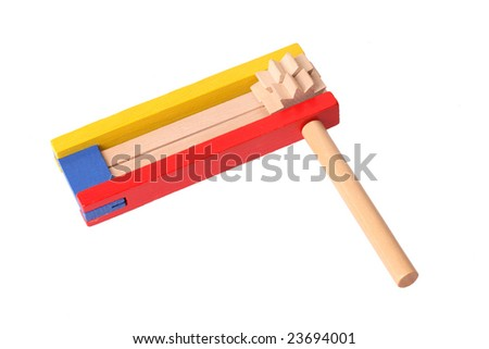Purim gragger (Noise maker) - A toy for Purim - stock photo
