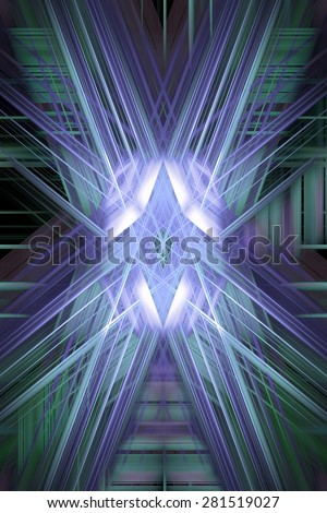 Purple and blue crossing speed blur lines  - stock photo