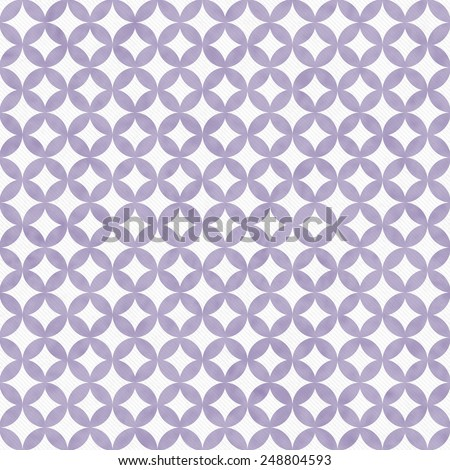 Purple and White Interconnected Circles Tiles Pattern Repeat Background that is seamless and repeats - stock photo