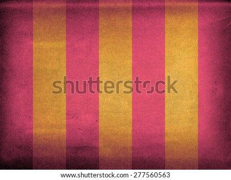 Purple and yellow striped retro canvas deck chair cover - stock photo