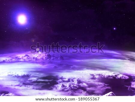 Purple Atmosphere - - stock photo