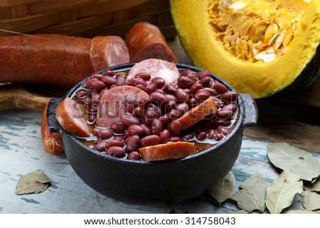 Purple bean feijoada - stock photo