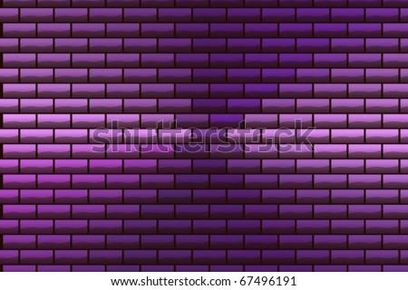 Purple bricks - stock photo
