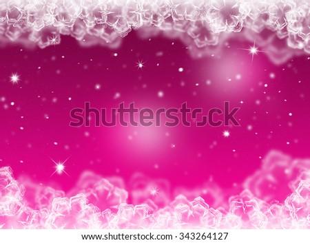 Purple Christmas background. New Year background. Winter background  - stock photo