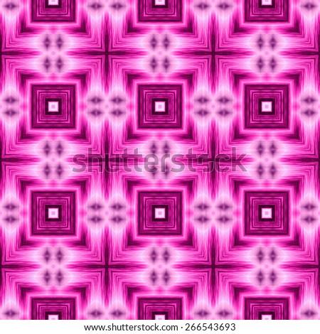 purple Decorative seamless pattern in ethnic geometric style - stock photo