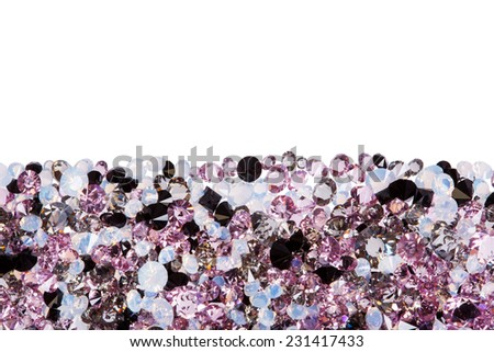 Purple diamond jewel stones luxury isolated on white - stock photo