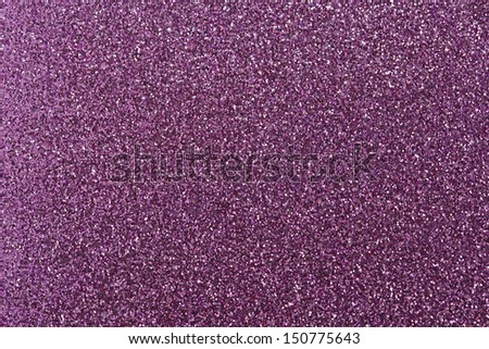 Purple glitter for texture or background - stock photo