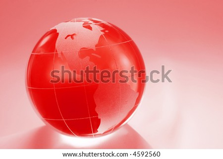 purple globe showing north and south america - stock photo