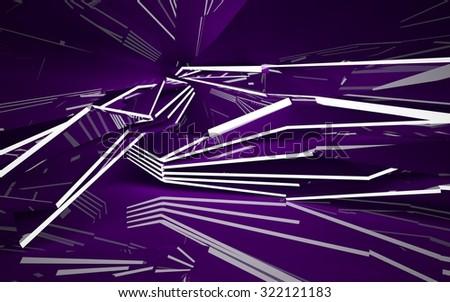 Purple interior. 3D illustration. 3D rendering - stock photo