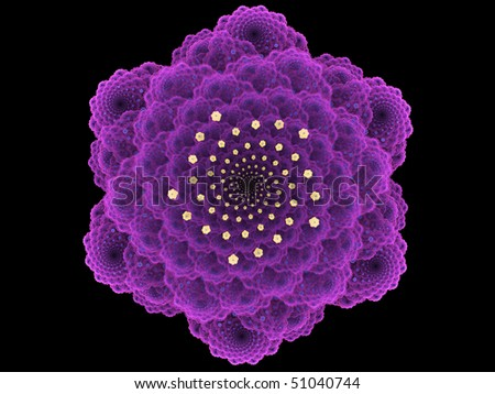 Purple Mathematical Flower - stock photo