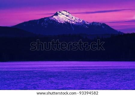 Purple mountains majesty - stock photo