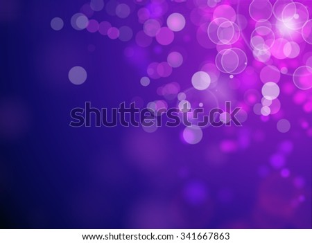 purple or blue bokeh background and wallpaper for Christmas and New Year   - stock photo
