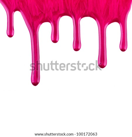 Purple paint on isolated white background - stock photo