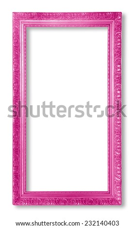 purple picture frame. isolated  on white background - stock photo