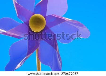 Purple Pinwheel - stock photo