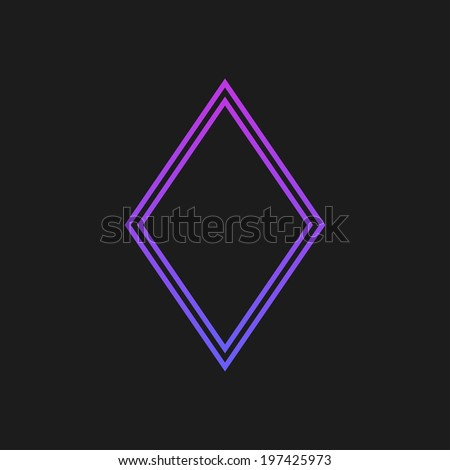 Purple rustrakehner color diamonds on a black screen - stock photo