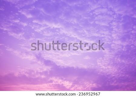 Purple sky background - stock photo