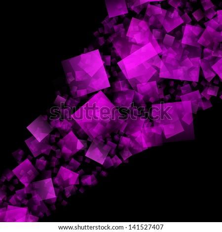 purple square background - stock photo