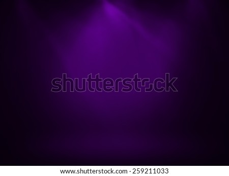 Purple stage background - stock photo