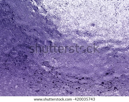 Purple texture Frost Ice On Windshield in black and white - stock photo