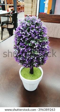 Purple tree - stock photo