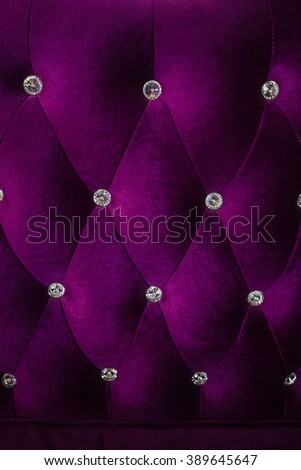 purple velvet sofa background - stock photo