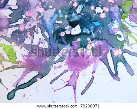 Purple Watercolor Background 3 - stock photo