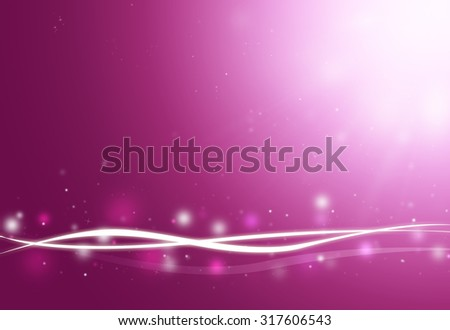 Purple wave and glitter sparkle defocused rays lights bokeh abstract background. - stock photo
