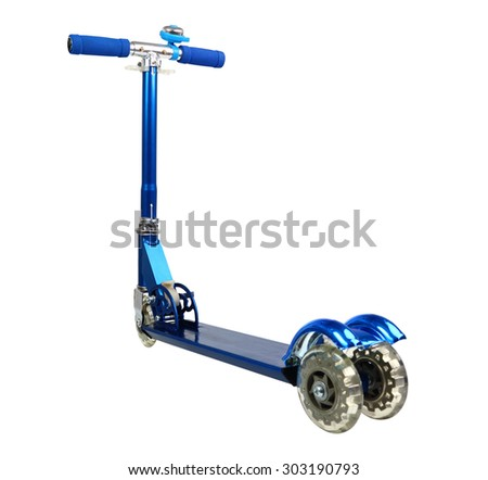 Push Scooter. Isolated with clipping path. - stock photo