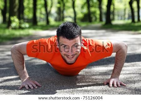 push-ups - stock photo