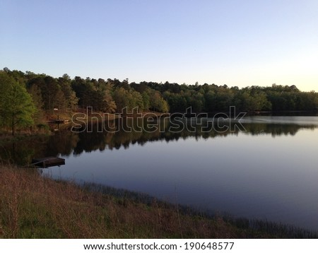 Puskus Lake in Holly Springs National Forest, Mississippi - stock photo